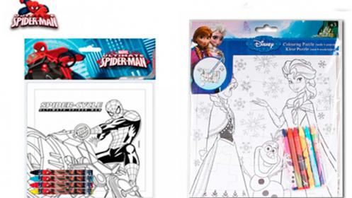 Puzzles de Spiderman o Frozen + pinturas