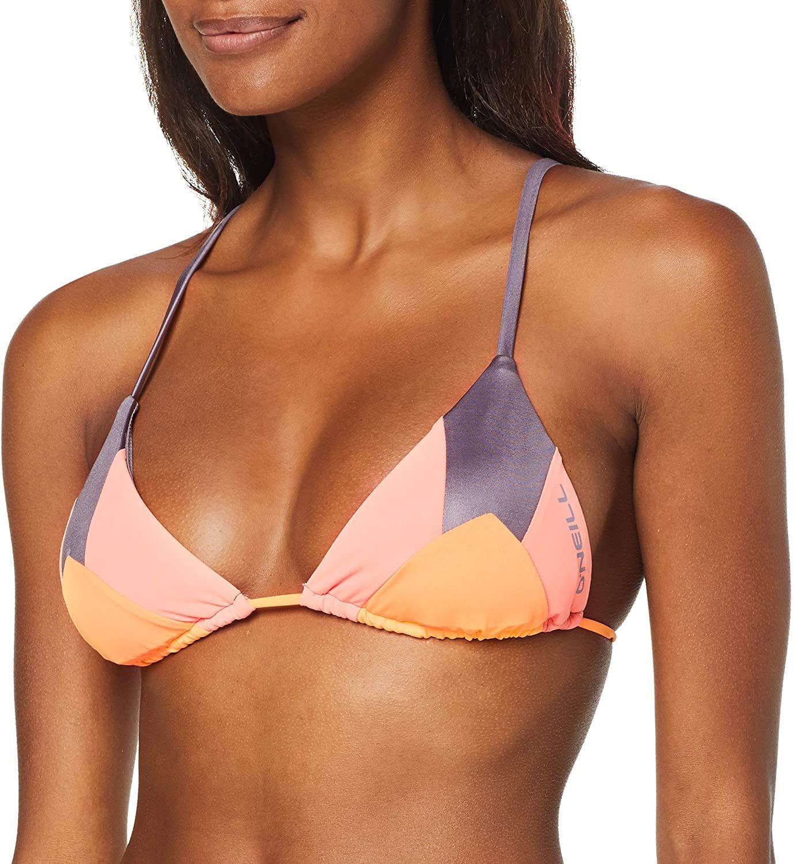 Parte superior del bikini marca O'Neill, talla 42, rosa aop.