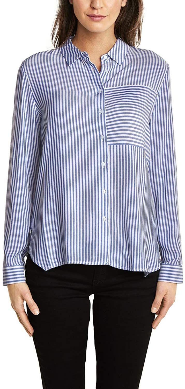 Camisa Street One para mujer, azul celeste, talla 40