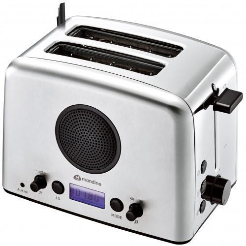 Tostadora con 2 ranuras Radio incorporada