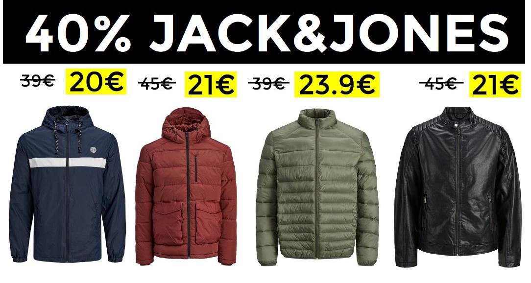 Hasta 40% de descuento en abrigos Jack&Jones
