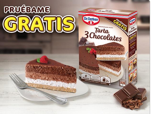 Prueba GRATIS la Tarta 3 Chocolates de Dr. Oetker