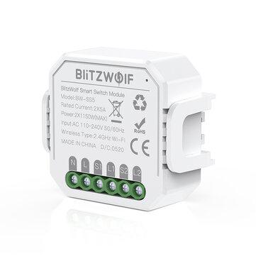 RELE DOMOTICA CONTROL WIFI - 2 TOMAS - ALEXA - GOOGLE ASSISTANT- BlitzWolf® BW-SS5