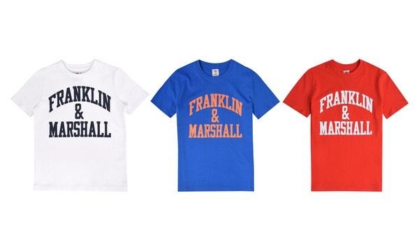 3 camisetas Franklin&Marshall para niñ@s