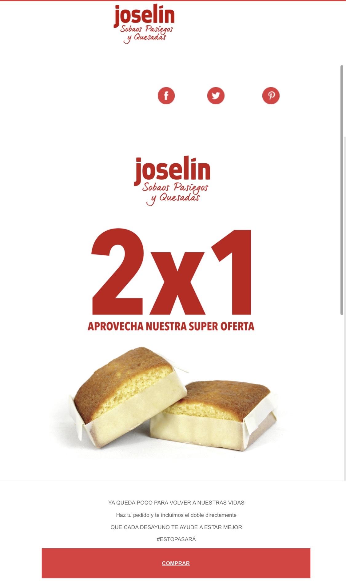 SOBAOS JOSELIN - 2x1 en tu pedido