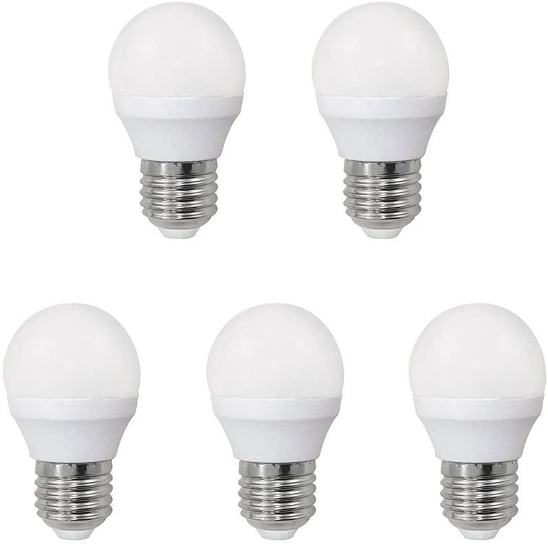 A2BC LED Lighting, Bombilla Esférica con Luz Calida, 6 W, Paquete de 5
