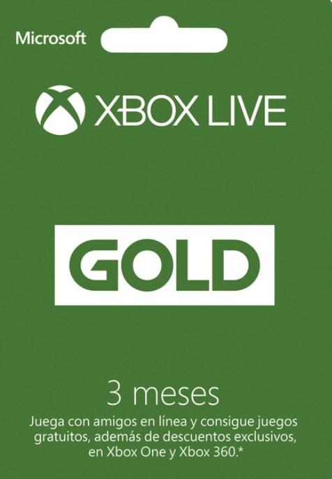 XBOX LIVE GOLD (3 MESES) por sólo 5€ (Suscripción anual por 20€ con envío gratis)