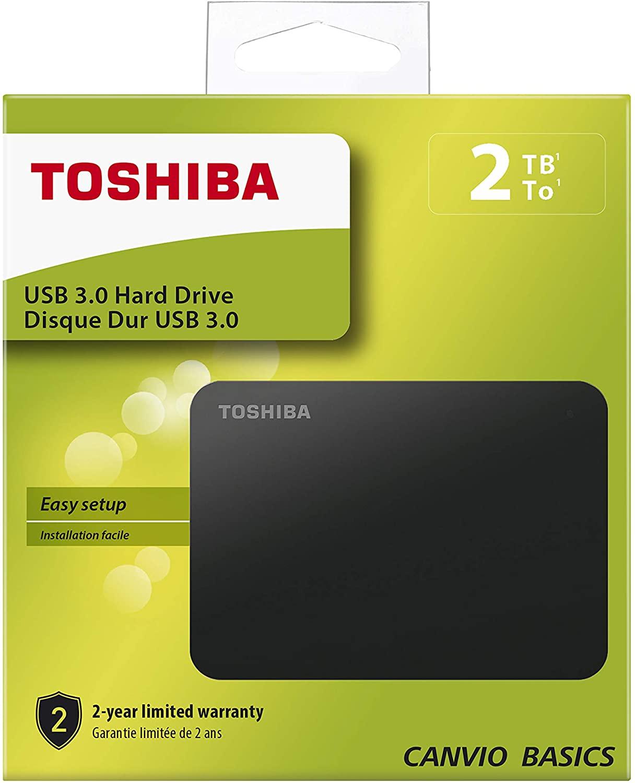 Disco Duro 2 TB. Toshiba Canvio Basics