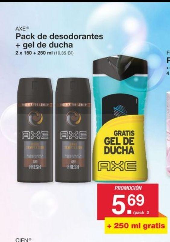 Vuelve el Pack de 2 desodorantes Axe 150ml + Gel Ducha Axe 250ml (GRATIS)