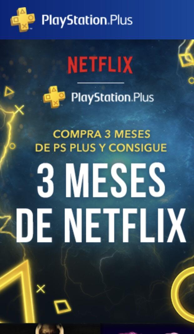 Promoción psn plus 3 meses + 3 meses Netflix
