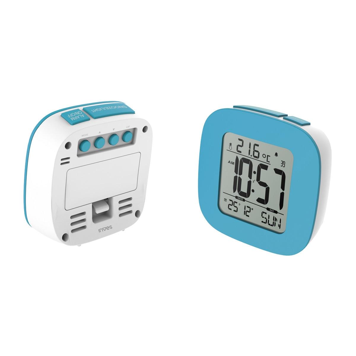 Reloj despertador multifuncional Inves E126S
