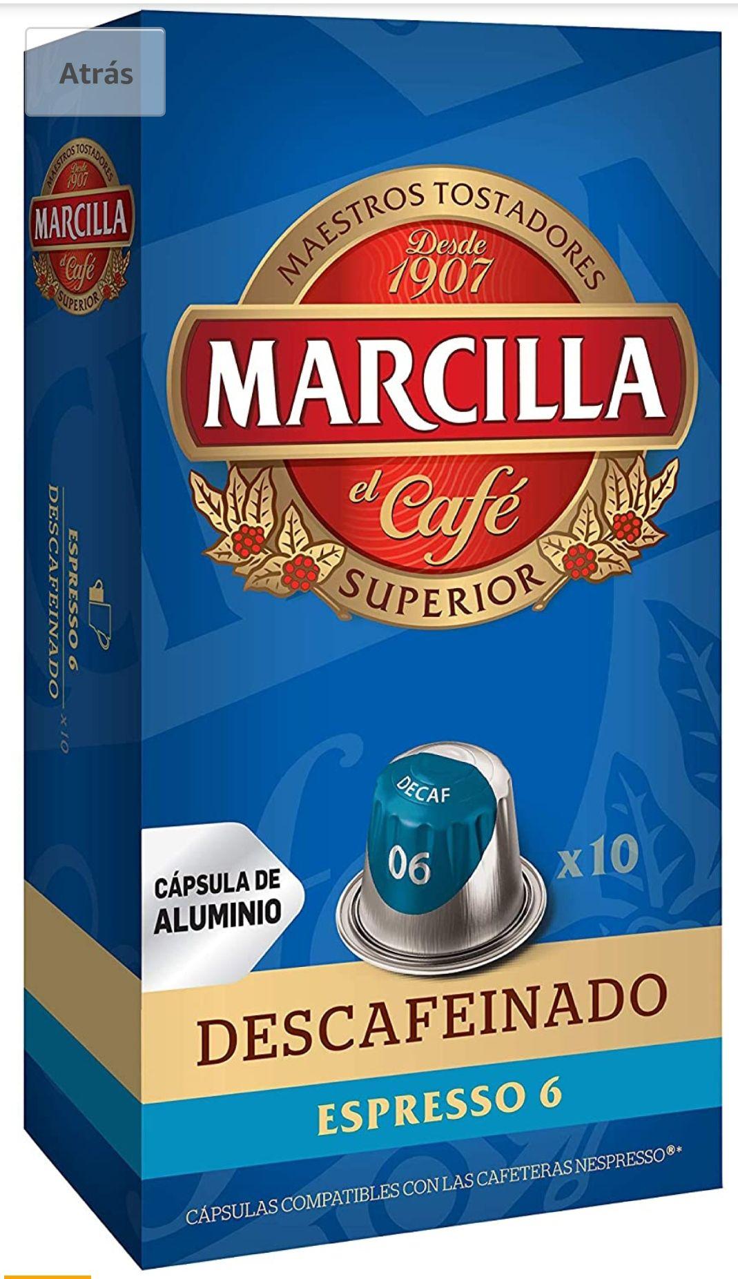 Capsulas Marcilla Nespresso Descafeinado SIN STOCK