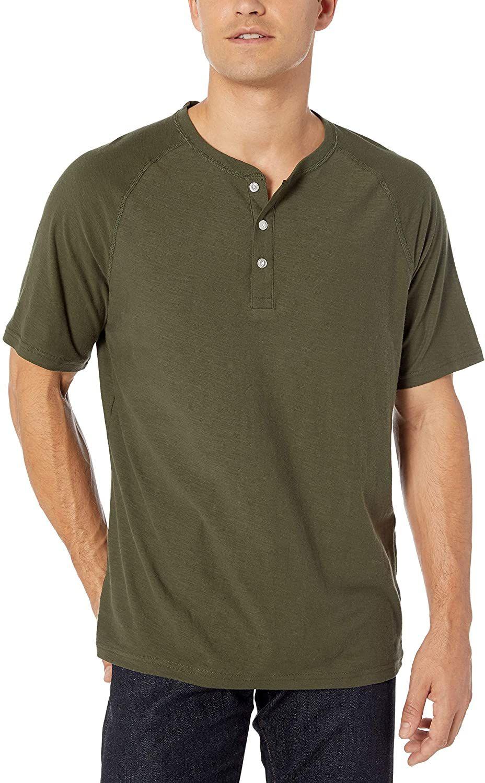 Camiseta básica Amazon Essentials, color verde, talla S.