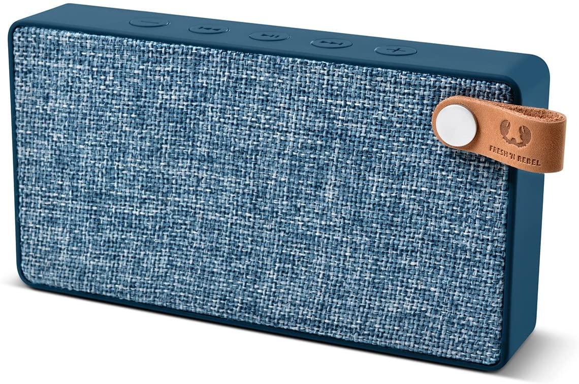 Fresh'N Rebel Rockbox Slice - Altavoz portátil con Bluetooth, color azul