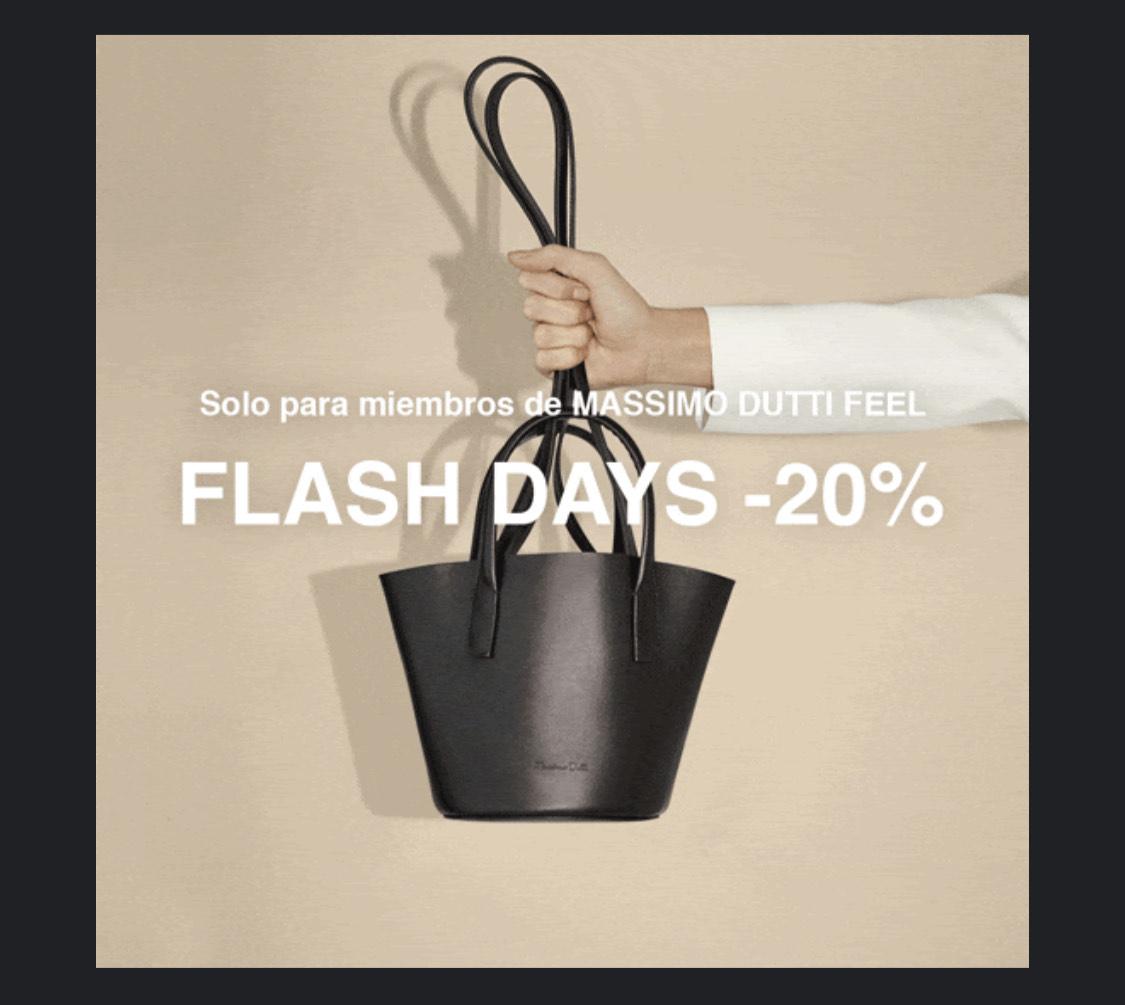 Massimo Dutti: FLASH DAYS -20% + envíos gratis