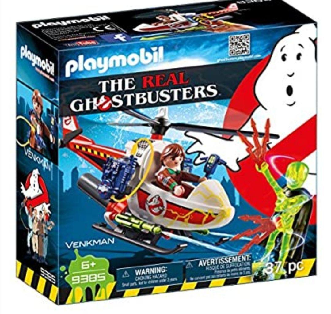 PLAYMOBIL Ghostbusters Venkman con Helicóptero y Chorros de Agua Reales, a Partir de 6 Años