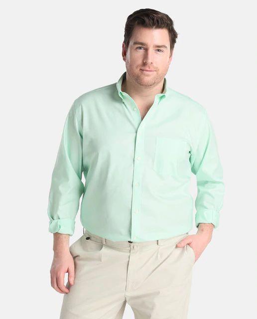 Camisa de hombre Emidio Tucci classic lisa verde tallas grandes