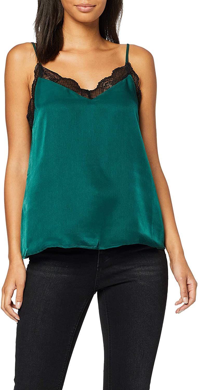 Blusa de tirantes de la marca Pimkie, color verde, talla 36