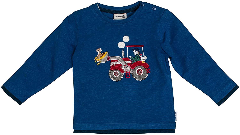 Camiseta de manga larga para bebé Salt&Pepper, azul oscuro, talla 74