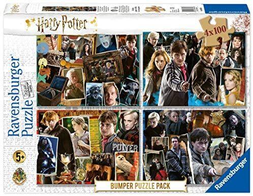 4 puzzles Harry Potter de 100 piezas cada uno