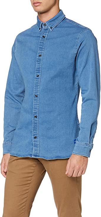 Jack & Jones Shirt Stretch LS Camisa Vaquera para Hombre todas las tallas.
