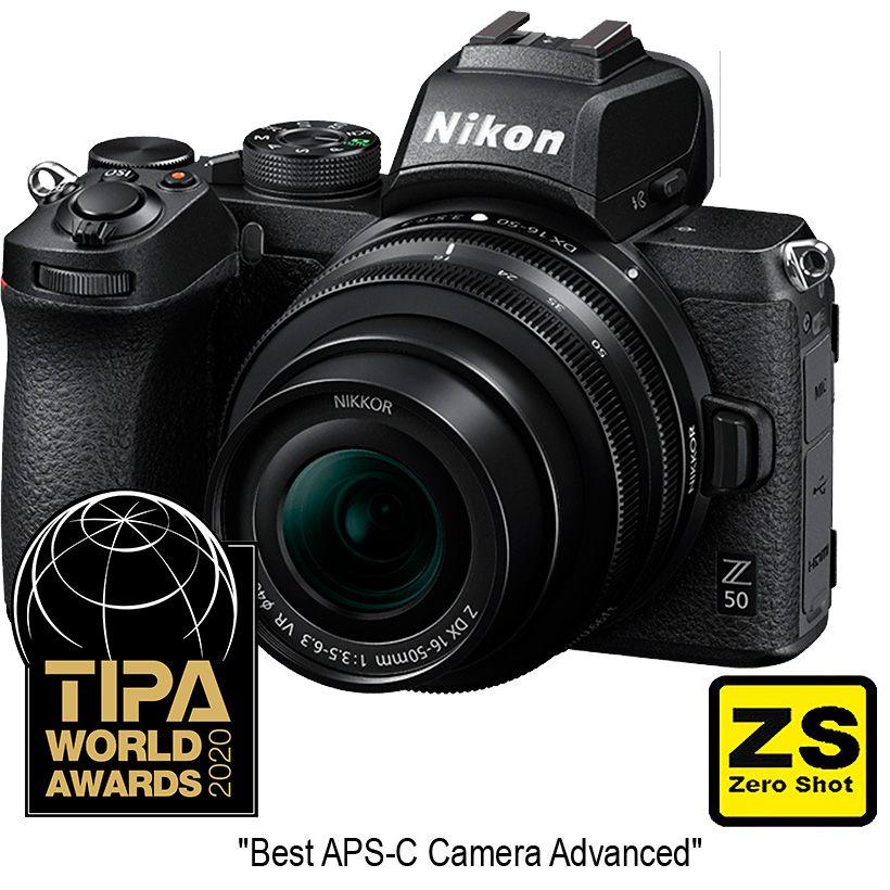 Cámara Nikon Z50 + Objetivo NIKKOR Z DX 16-50mm f3.5-6.3 VR. (Zero Shot)