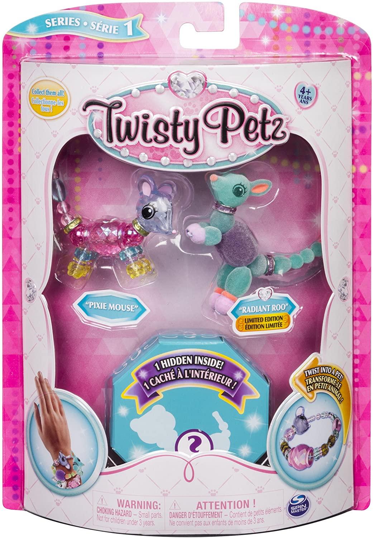Twisty Petz Spin Master 3 Pack-Kits de joyería (REACOs Como Nuevo)