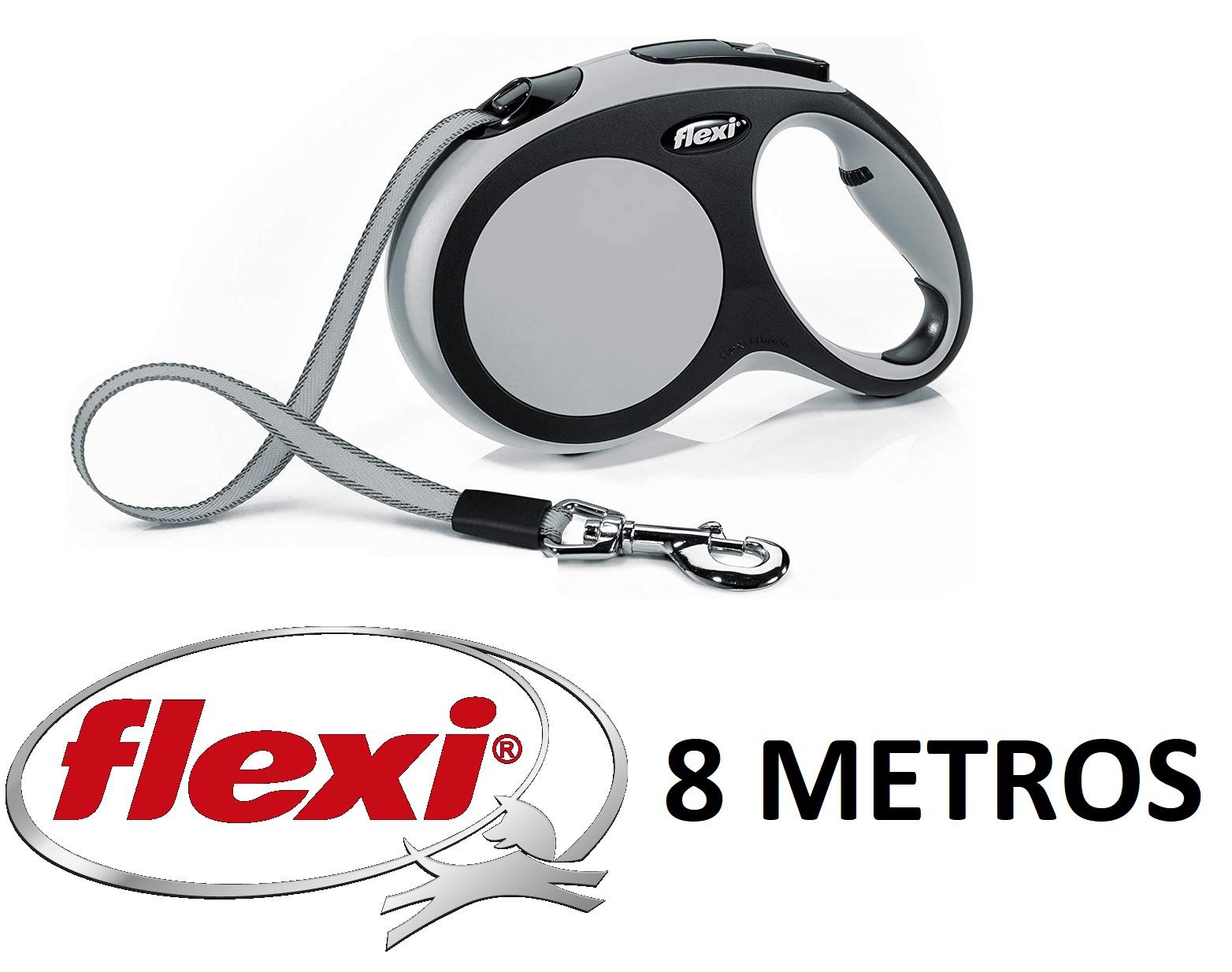 FLEXI Correa New Comfort 8M, TALLA L (Para perros hasta 50kg) (REACO Como NUEVO)
