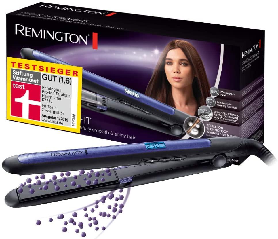 Remington Pro Ion S7710 - Plancha de Pelo, Cerámica, Digital, Placas Flotantes largas (REACO Como NUEVO)
