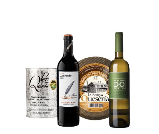 Pack Vinos, Aceite y Queso