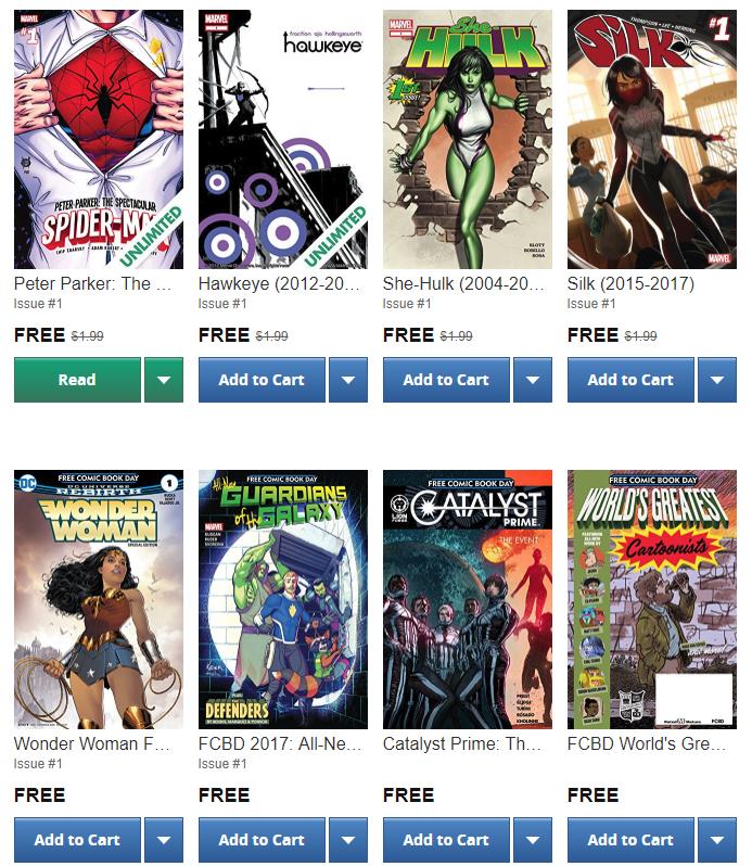 Colección de 125 comics GRATIS