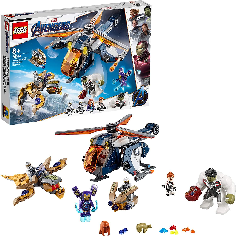 LEGO Super Heroes - Vengadores Rescate en Helicóptero de Hulk, Set de Construcción de Endgame