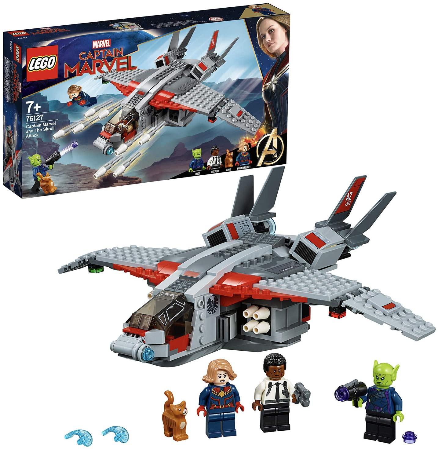 LEGO Marvel Super Heroes - Capitana Marvel Ataque de los Skrulls, Nave de juguete para construir inspirado en la película