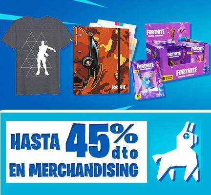 Hasta 40% en merchandising Fortnite