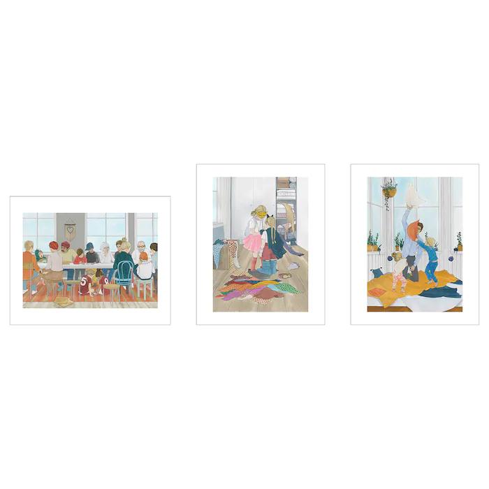 3 unidades Lámina, Modern Larsson, 40x50 cm