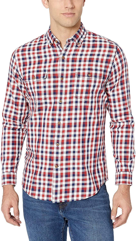 Amazon Essentials - Camisa ajustada con dos bolsillos (Talla S)