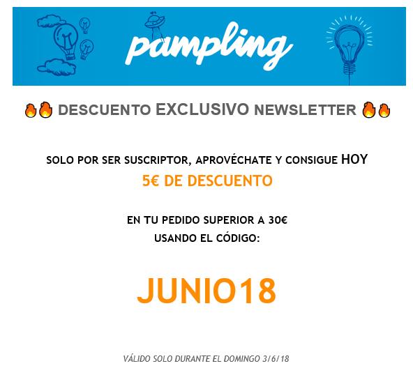 Descuento de 5€ por 30€ de compra en Pampling.