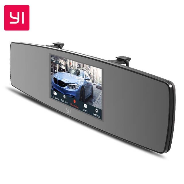 YI Mirror Dash Cam Dual - Cámara para el salpicadero (Desde España)