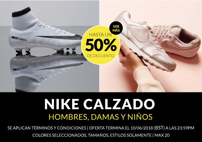 Hasta 50% de descuento en calzado Nike