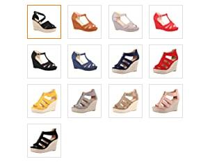 Elara Sandalias de Mujer Tacón Plataforma en 13 colores.