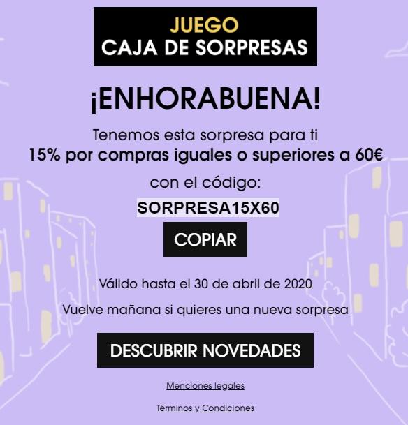 15% descuento Sephora