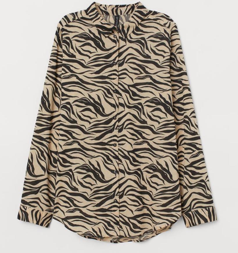 Camisa de algodón H&M talla 36