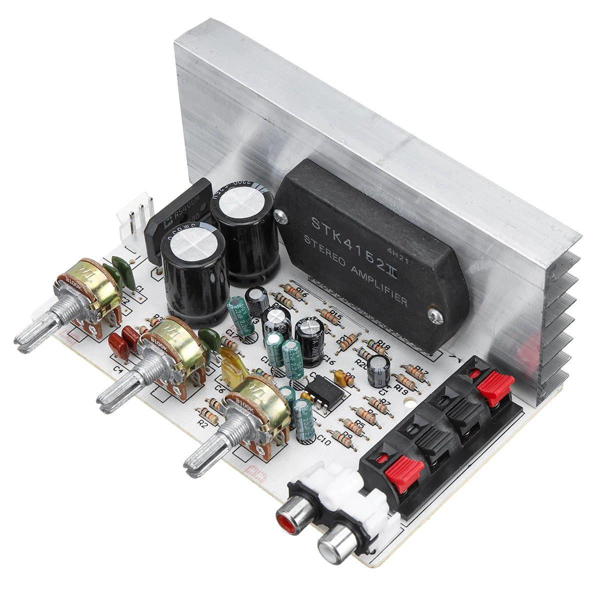 STK4132 50W + 50W DX-0408 2.0 Canal STK Película gruesa Serie Amplificador placa 10HZ-20KHZ