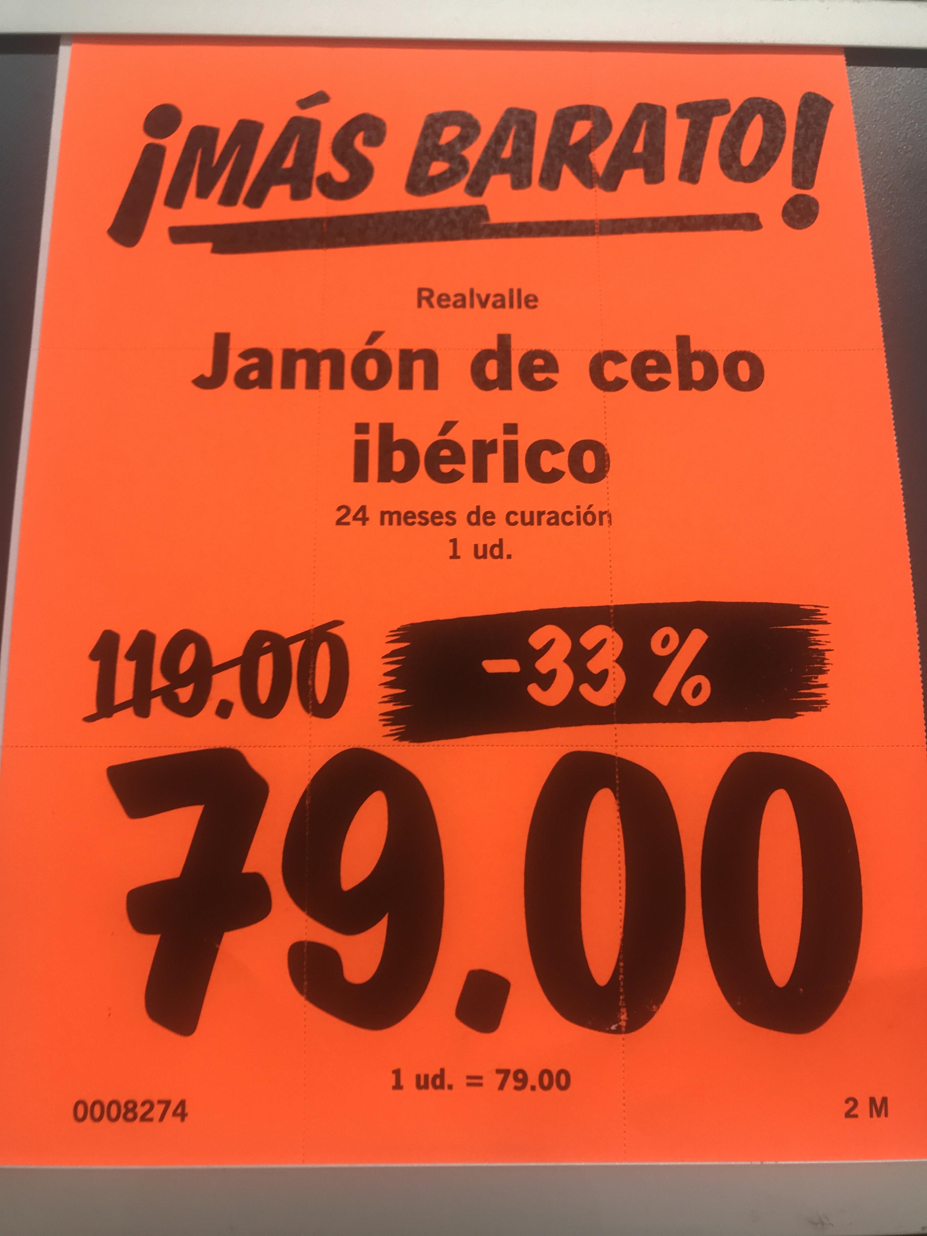 Jamón de cebo ibérico 50% Lidl Fuencarral (Madrid)
