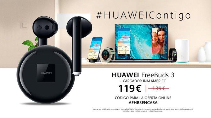 Huawei Freebuds 3 + Base De Carga Inalambrica