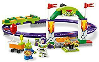 LEGO 4+ Toy Story 4: Alegre Tren de la Feria, Juguete de Construcción de Disney Pixar, Atracción con Minifigura de Buzz Lightyear