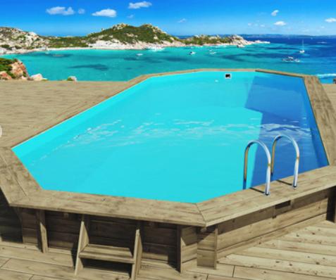 Piscina de madera Ibiza - 8.57 x 4.57 x 1.31 m
