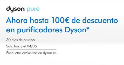 Hasta 100€ de descuento en Purificadores Dyson