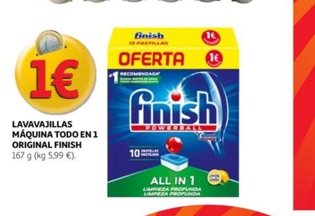 10 pastillas Finish PowerBall Limón sólo (0'10€ud)