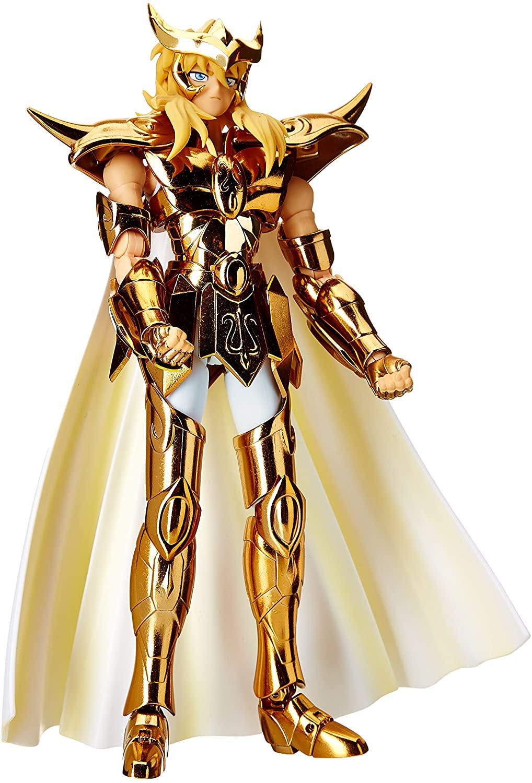 BANDAI Saint Seiya - Figura Articulada Milo Caballero de Oro de Escorpio, Color Dorado, 18 cm - Caballeros del Zodiaco
